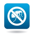 Sign prohibition of fleas icon simple style vector image vector image