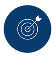 simple line icon sign - goal in business target vector image vector image