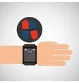 smart watch medical service pill medicine vector image vector image