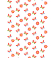 Spring seamless pattern with butterflies and vector image