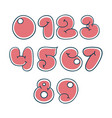 the numbers in a nice cartoon style vector image