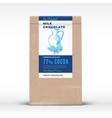 the original milk chocolate craft paper bag vector image vector image