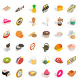 thin icons set isometric style vector image vector image