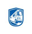 Tourist Coach Shuttle Bus Traveling Fast Retro vector image vector image