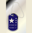 veterans day dog tag vector image
