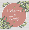 wedding card suite with vintage flower templates vector image