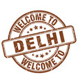 welcome to delhi vector image vector image