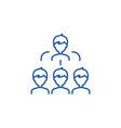 work team line icon concept work team flat vector image vector image