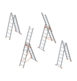 Isometric ladder Set of various ladders on the vector image