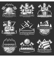 Lumberjack Dark Emblem Set vector image