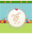 card rabbit2 vector image