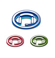 3d glossy headset web icon vector image vector image