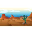 A sad cactus vector image vector image