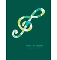 abstract green circles gclef musical vector image vector image