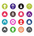 arrow icon set web pictograph design vector image