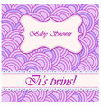 baby-shower-circle-pattern-twins vector image vector image