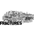 back pain and fractures text word cloud concept vector image vector image