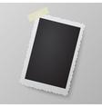 Blank photo frame looking like retro photograph vector image