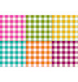 bright buffalo plaids vector image