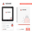 bug business logo tab app diary pvc employee card vector image vector image