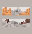 building stones production cartoon flat set vector image
