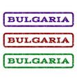 bulgaria watermark stamp vector image vector image