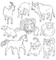 bull-cat-dog-goat-horse-pig-rat-sheep-tiger vector image vector image