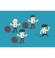 Business man burden with Debt vector image vector image