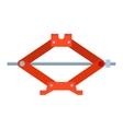 Car jack shot steel repair service vector image