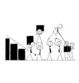 cartoon of business people teamwork concept vector image vector image