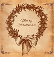Christmas New year holidays hand drawn wit vector image vector image