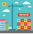 Construction of Building vector image