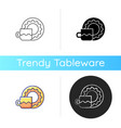 cup and saucer set icon vector image vector image