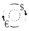 currency conversion euro dollar vector image vector image