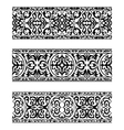 Decorative ornate vintage borders vector image vector image