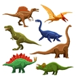 Dinosaurs Color Icons Iet vector image vector image