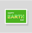 double exposure earth day greeting card vector image