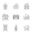 Dwelling icons set outline style vector image vector image