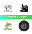 estimating planting time icon vector image vector image