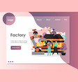 factory website landing page design vector image vector image