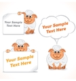 Funny Cartoon Sheep with Banners vector image vector image