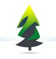 fur-tree green icon vector image vector image