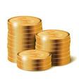 Golden Coins Stacks vector image
