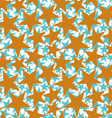 Golden stars seamless pattern geometric vector image vector image