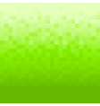 Green background with pixels vector image vector image