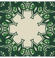Green stylized ornate frame card in arabic style vector image vector image