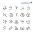 healthcare line icons editable stroke vector image