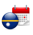 Icon of national day in nauru vector image vector image