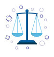 icon scales of justice sign of judge or lawyer vector image vector image
