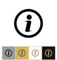 info icon information round symbol on gold and
